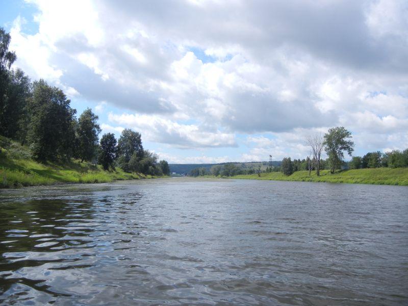 Вдали поселок Лаклы, конец маршрута (18.08.2015)
