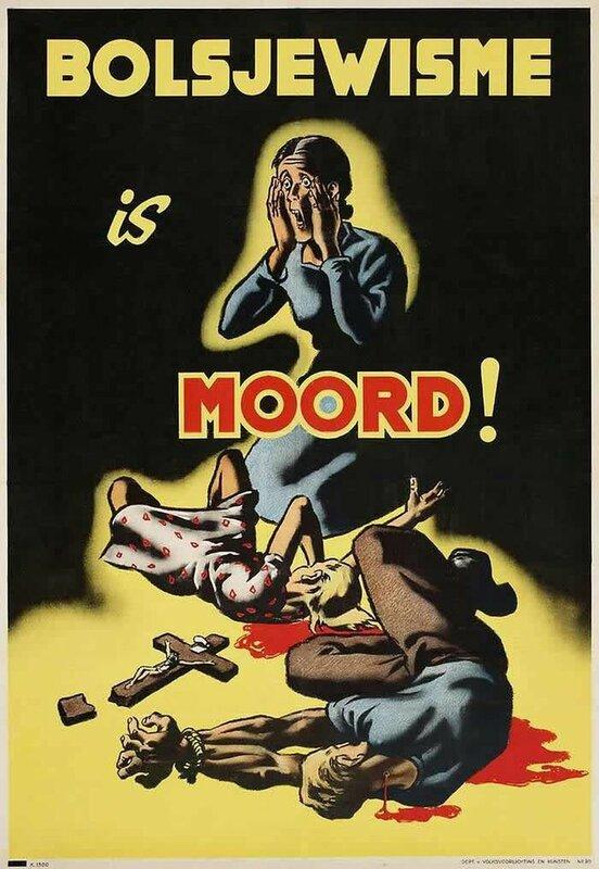 Плакат выпущен Германией для территорий Нидерландов и Бельгии (1943 год)