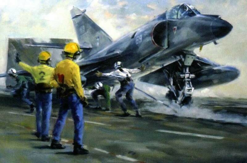 Albert Brenet - Super Etendard launching, 1991, Foch