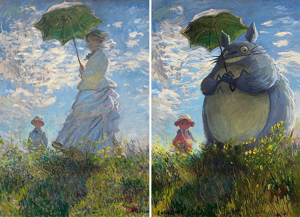 Художник под ником Lothlenan перевоплощает героев классических картин в персонажей современной анимации (7 фото)