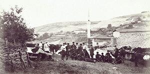 Казачий военный лагерь вблизи Бяла, 1877 г.