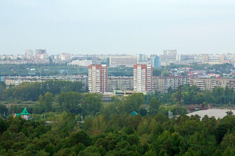 Виды Челябинска с 11 этажа Коммуны 139Б