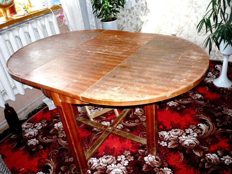 Реставрация раздвижного круглого стола своими руками 19