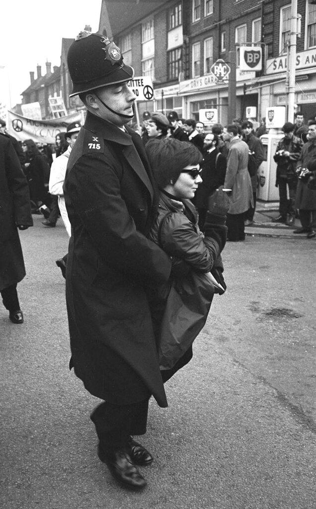 John 'Hoppy' Hopkins.Ruislip Cops Carrying Girl Smoking