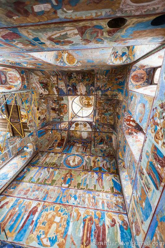 Настенные росписи Церкви Иоанна Богослова. Ростовский кремль.