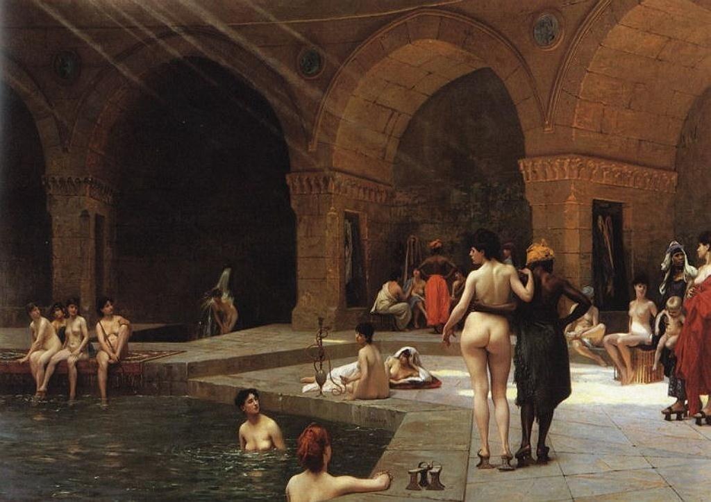 La grande piscine de Brousse 1885 by Gerome, Jean-Leon