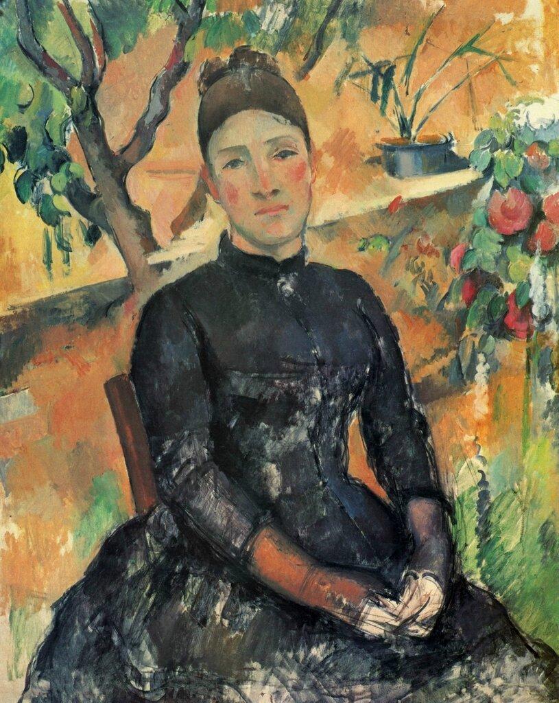 Мадам Сезанн 1891-1892 Поль Сезанн.