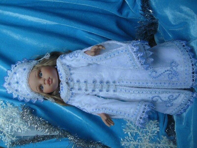 Новогодний наряд для куклы своими руками