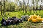 Уборка мусора в Приоратском парке