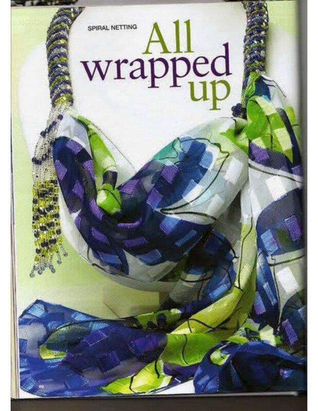 Жгут из бисера для шарфа.