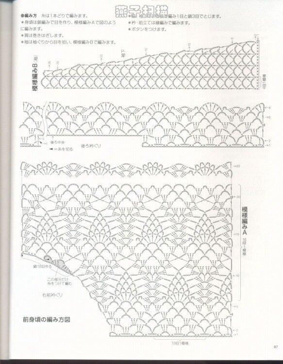Схема вязание спицами детской шапки с.