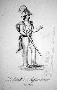 солдат пехоты 1795