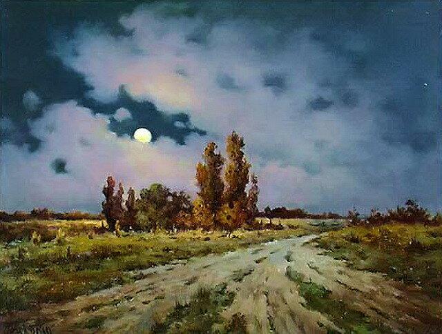 И костёр зари, и плеск волны, и серебристая луна, и шелест тростника. Луговенко Николай Владимирович