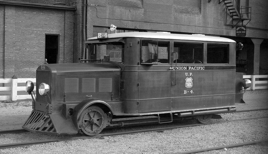 Official inspection car. Union Pacific motor car, engine number B-4, engine type BUDA, at Denver, Colo., July 10, 1933