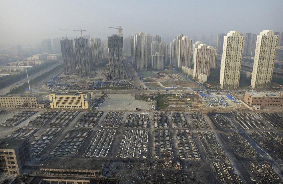 9. Взрыв токсичных материалов привел в загрязнению территории в радиусе 3 км.