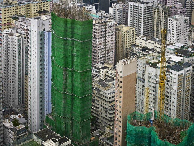 Яркие строительные площадки в Гонконге