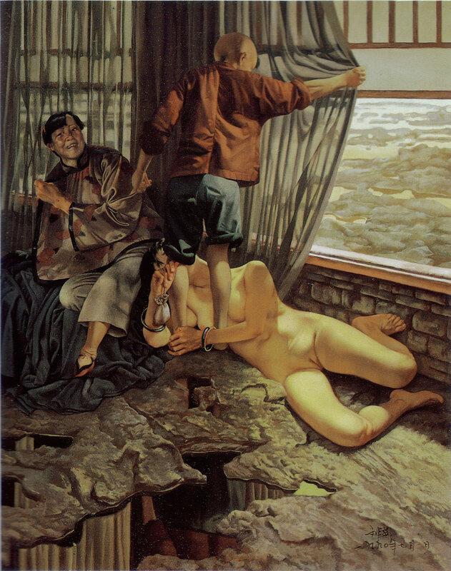 Композиции китайского художника Луи Лю (Lui Liu) дышат эротикой, у