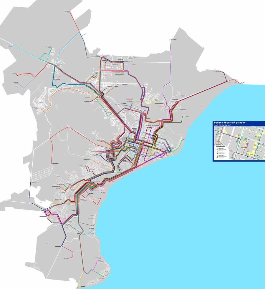 Схема автобусов и маршрутных такси Саратова