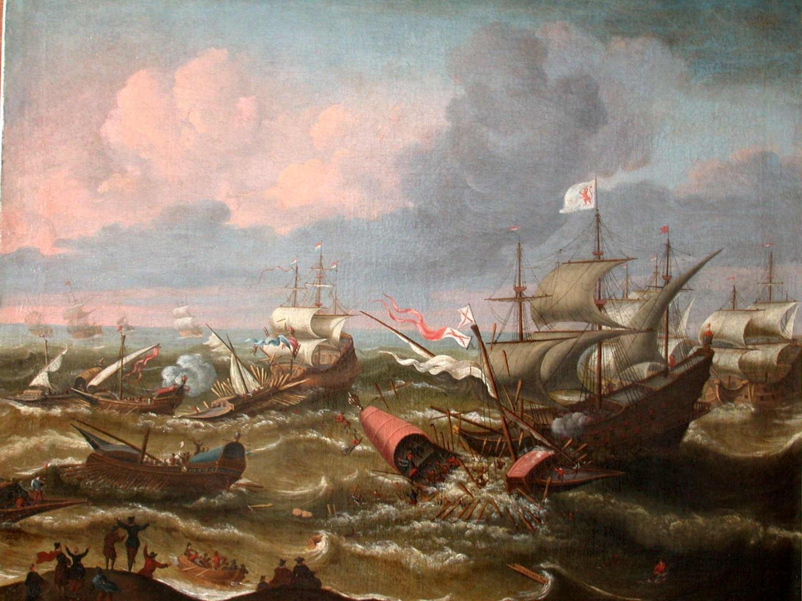 Scheepstrijd op de Zeeuwse stromen, slag bij Sluis 26 mei 1603.jpg
