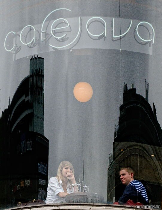 CafeJava (блондинка, кафе, пара, свидание)