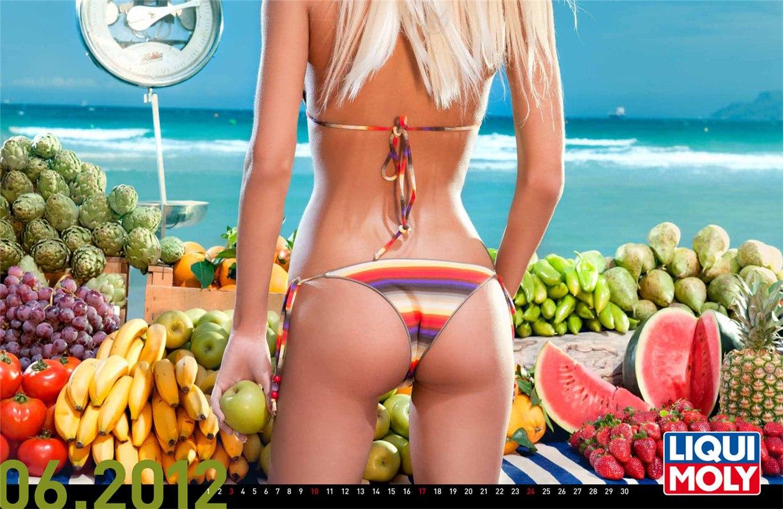 Liqui Moly - эротический календарь на 2012 год - июнь