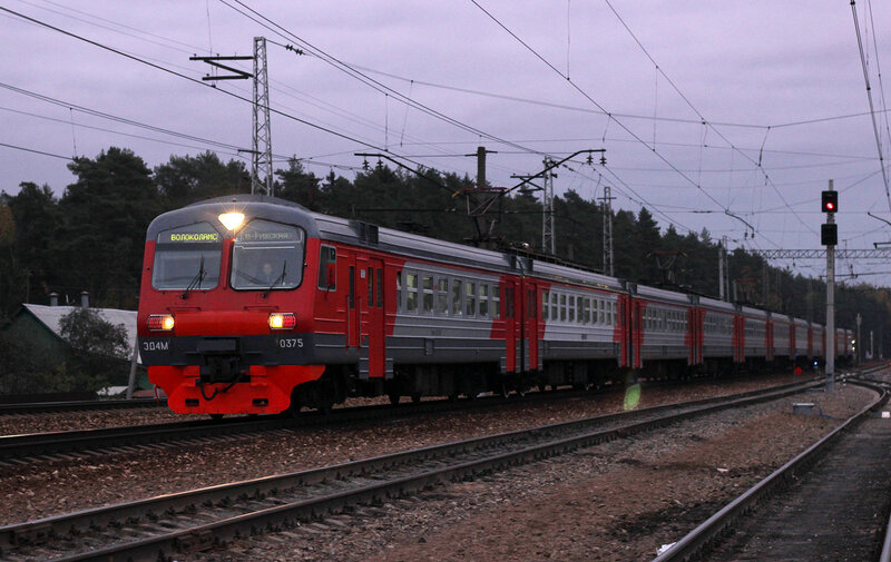 ЭД4М-0375 на станции Нахабино