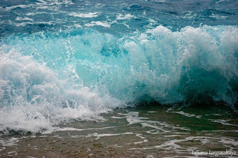 Волны Адриатического моря в марте