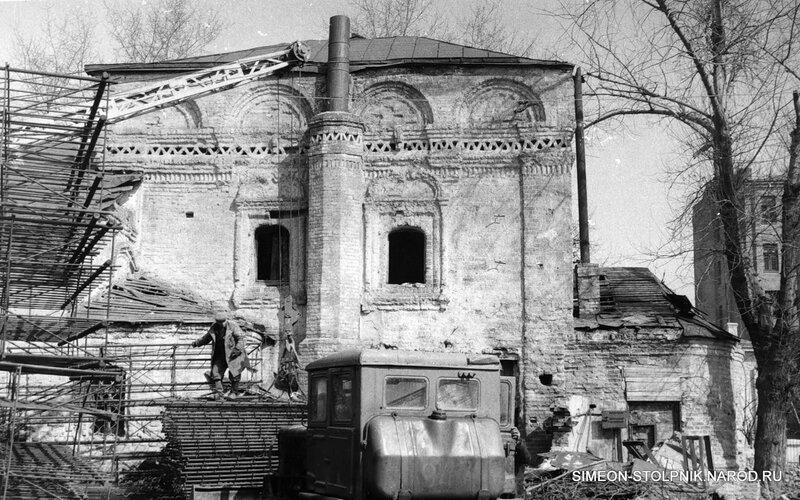 Начало реставрационных работ. 1965 год.