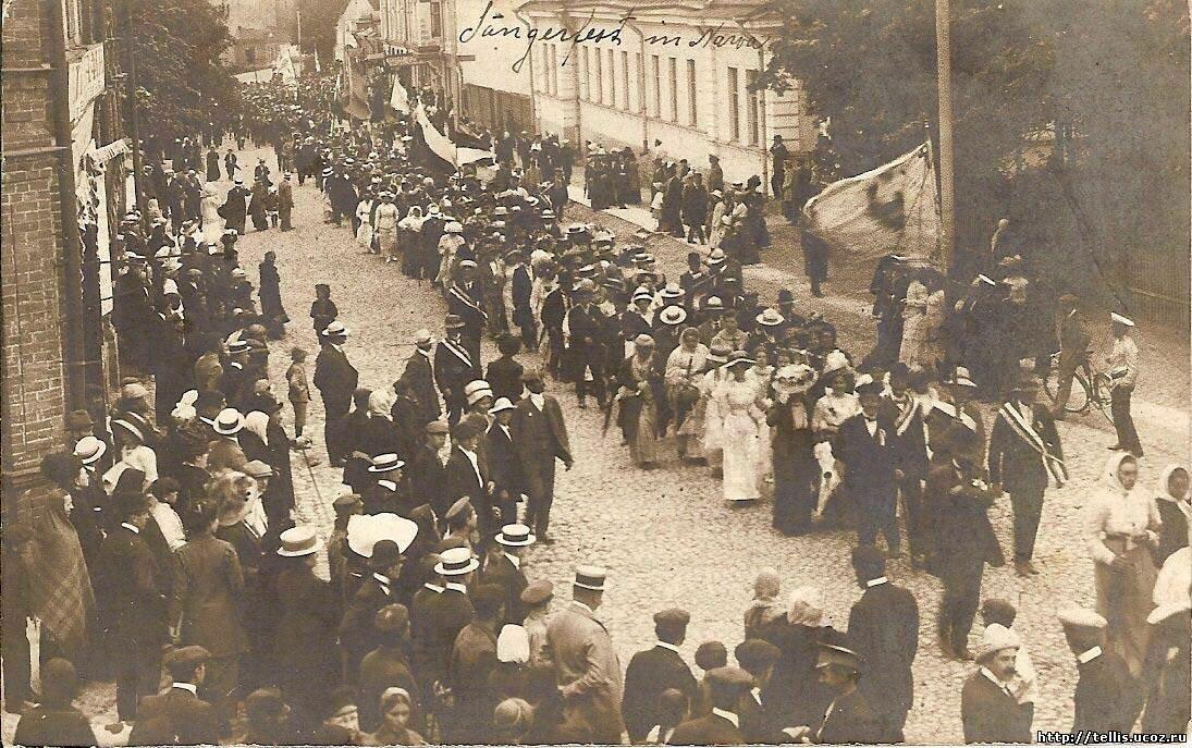 Участники певческого праздника. 1912