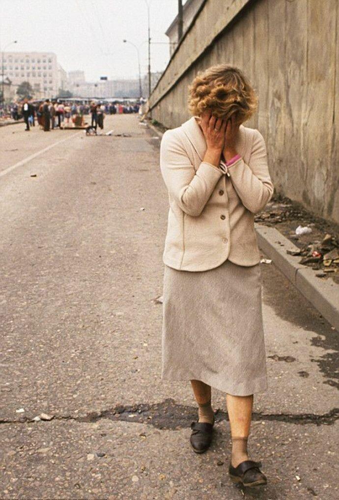1991. Москва. Во время августовского путча