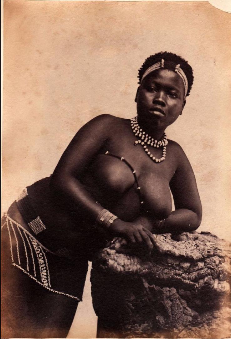 1890. Молодая зулуска. Южная Африка