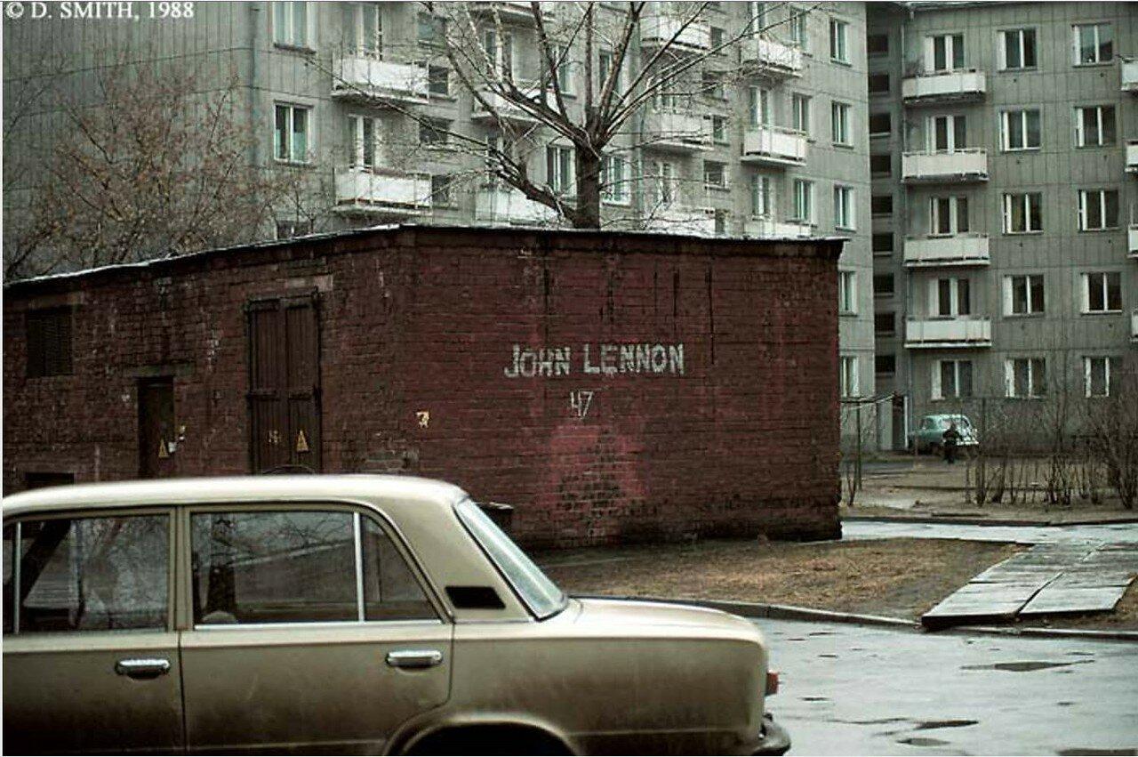 Граффити на кирпичной постройке (неустановленное место)