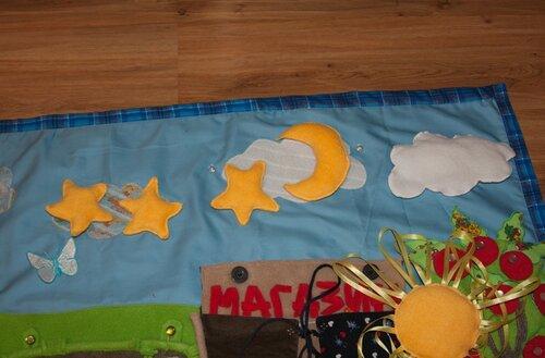 Развивающий коврик для детей... небо, месяц, звезды
