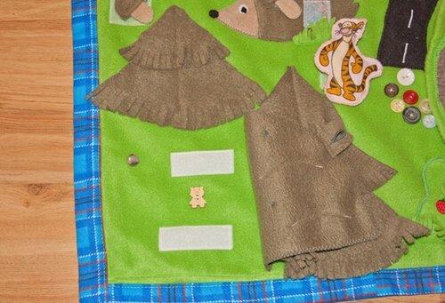 Игровой развивающий коврик... лес, берлога