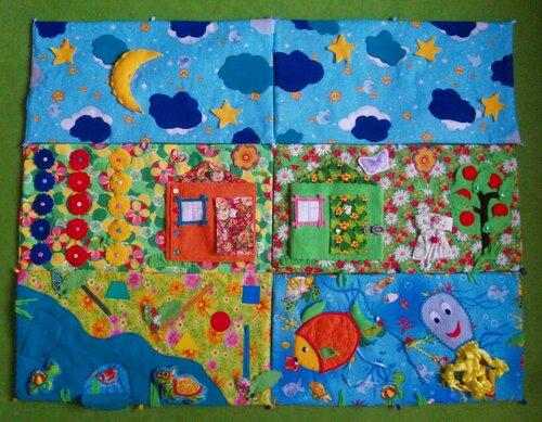 Развивающий коврик для детей - Мягкая развивающая книжка. Авторская ручная работа
