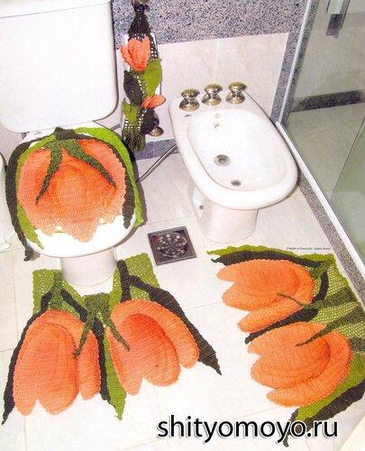 для туалета: 2 коврика,