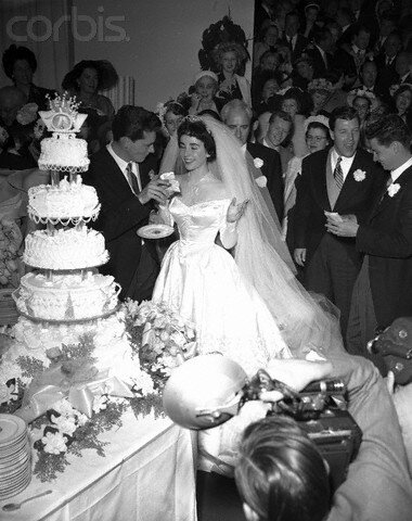 Liz Taylor and Nicky Hilton at Wedding