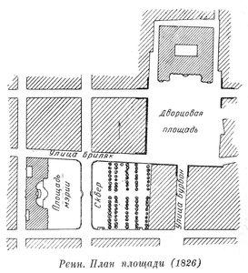 Ансамбль центральных площадей в Ренне, план