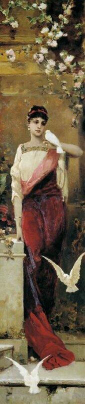 Женщина с голубями
