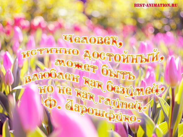 Афоризмы о Любви - Открытка - Человек, истинно достойный...