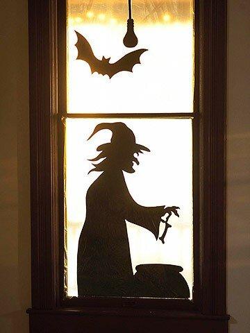 Украшение окон к Хэллоуину