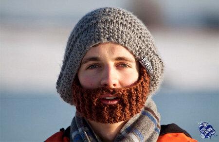 В'язана борода шапочка