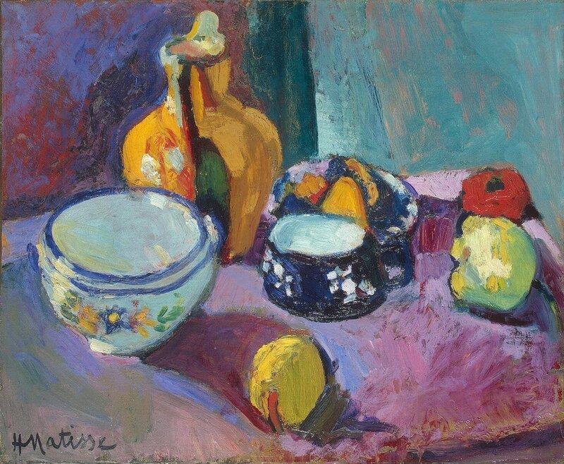 Анри Матисс - Посуда и фрукты (1901)