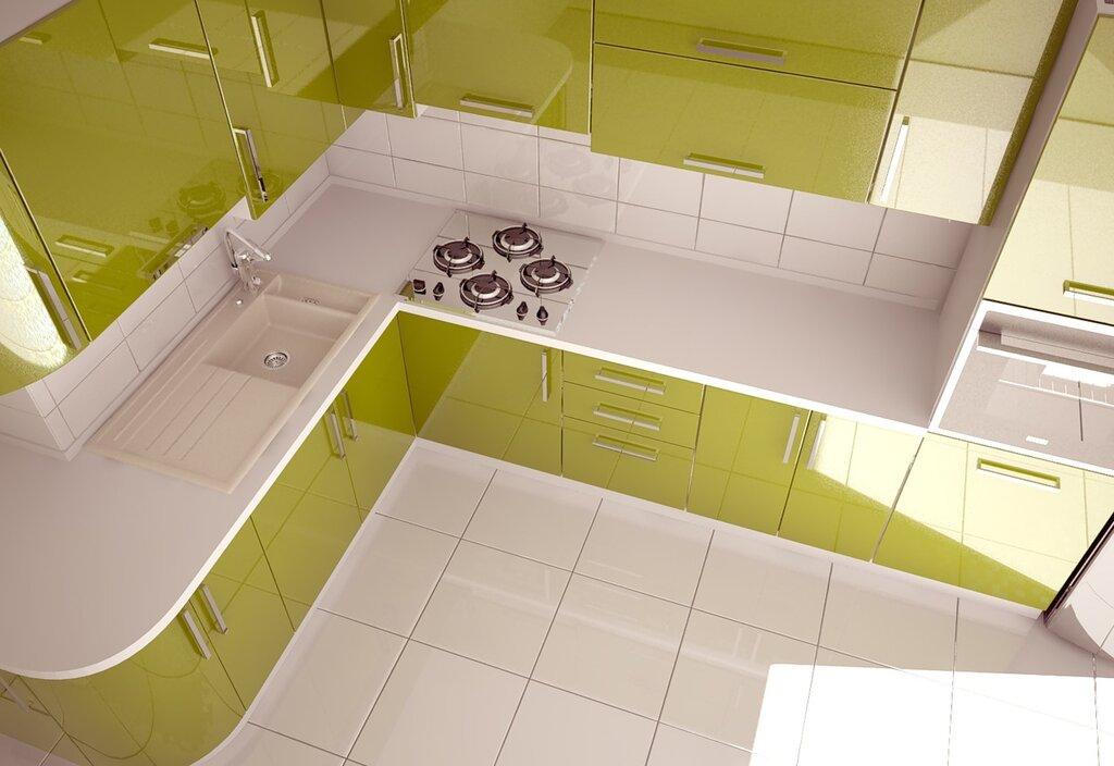 кухня, визуализация мебели
