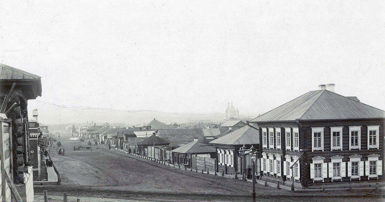 Перспектива Песочной улицы от Яковлевских бань на северо-запад. 1880-е