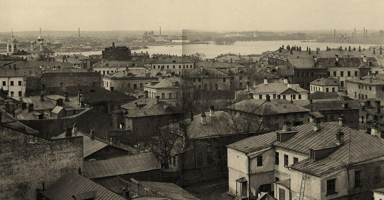 188. Вид от Спасо-Песковской площадки на Николу на Щепах и Дорогомилово. 1908-1910