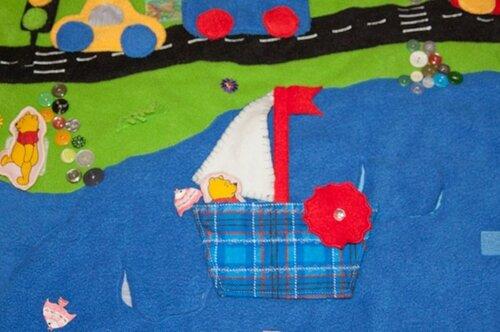 Детский развивающий коврик своими руками... море, кораблик