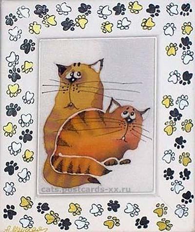 Коты батик