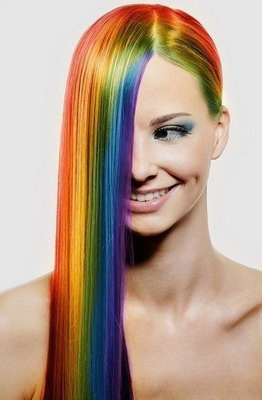Радужная окраска волос