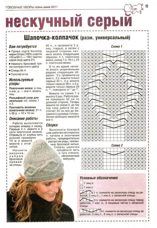 Вязание шапки шапочки схемы